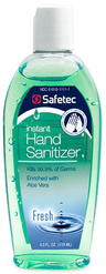 Safetec Instant Hand Sanitizer, Fresh Scent, 4oz Flip Top Bottle
