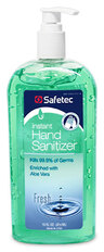Safetec Instant Hand Sanitizer, Fresh Scent, 16oz Pump Bottle