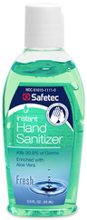 Safetec Instant Hand Sanitizer, Fresh Scent, 2oz Flip Top Bottle
