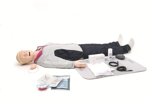 Laerdal Resusci Anne<sup>®</sup> QCPR, Full Body with Airway Head, Rechargeable
