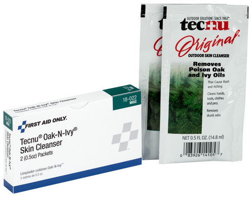First Aid Only<sup>®</sup> Tecnu Oak-N-Ivy Skin Cleanser Packets