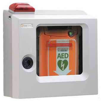 Cardiac Science<sup>&reg;</sup> Surface Mount AED Cabinet, Alarm and Strobe