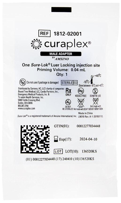 Curaplex<sup>®</sup> Male Adapter Plug