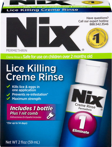 NIX Lice Pediculicide Cream Rinse with Comb