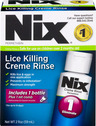 NIX Lice Pediculicide Cream Rinse with Comb, 2oz