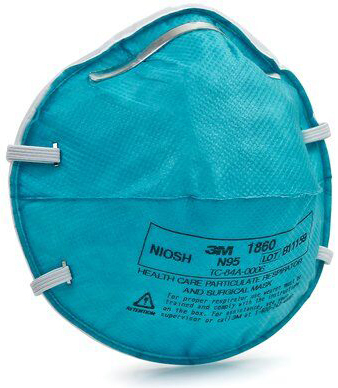 3M<sup>™</sup> N95 1860 Particulate Respirator Masks, Regular