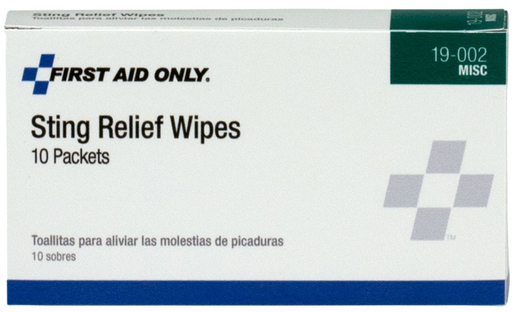 First Aid Only<sup>&reg;</sup> Pac-Kit Sting Relief Wipes