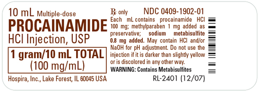 Procainamide Hydrochloride Injection, USP, 100mg/mL, 10mL Vial