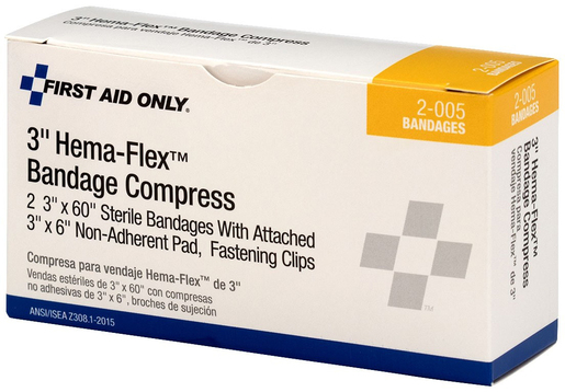 First Aid Only<sup>&reg;</sup> Pac-Kit Hema-Flex Bandage Compress, 3&rdquo; x 4yd