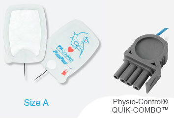 CONMED PadPro<sup>&reg;</sup> Radiotransparent Physio-Control<sup>&reg;</sup> QUIK-COMBO<sup>™</sup> Multifunction Electrodes, Adult, Pre-connect