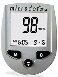 Microdot<sup>&reg;</sup> Xtra Blood Glucose Meter