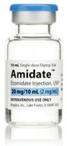Etomidate, 20mg/mL, 10mL Vial