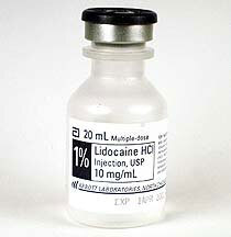 Lidocaine (Xylocaine) Multiple-dose Plastic Flip-top 20mL Vial, 2%HCL, 20mg/mL
