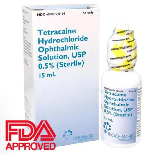 Tetracaine, 0.5%, 15ml bottle