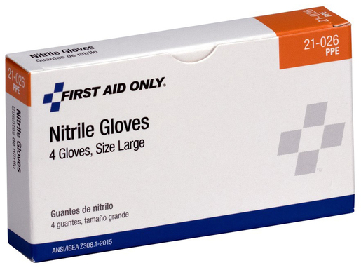 First Aid Only<sup>&reg;</sup> Pac-Kit Nitrile Exam Gloves