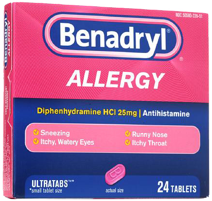 Benadryl<sup>®</sup> Allergy ULTRATAB<sup>®</sup> Tablets, 25mg