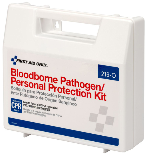 First Aid Only<sup>®</sup> Bloodborne Pathogen/Personal Protection Kit with CPR Pack