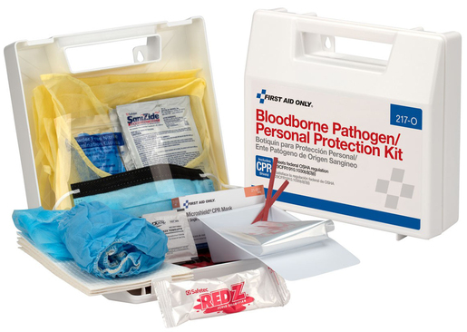 First Aid Only<sup>&reg;</sup> Bloodborne Pathogen/Personal Protection Kit with CPR Shield