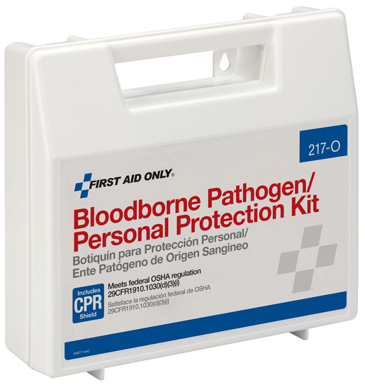First Aid Only<sup>®</sup> Bloodborne Pathogen/Personal Protection Kit with CPR Shield
