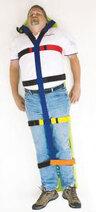 DMS Y-Body Strap, Polypropylene, Velcro, Black