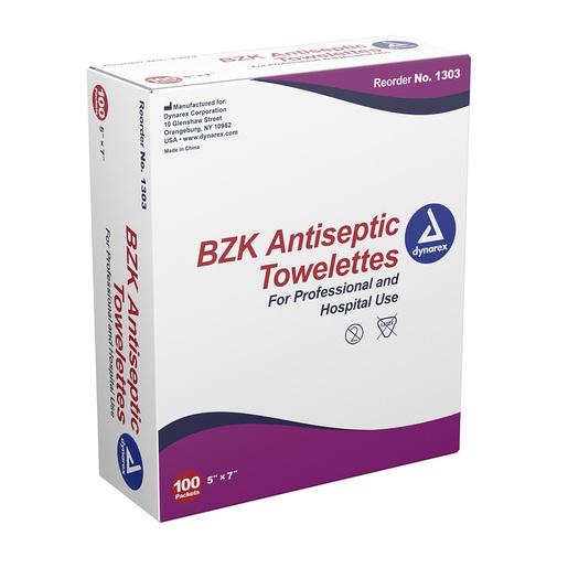 Dynarex<sup>®</sup> BZK Antiseptic Towelettes