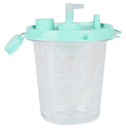 Curaplex<sup>&reg;</sup> Disposable Suction Canisters, Hydrophobic, 1,200cc