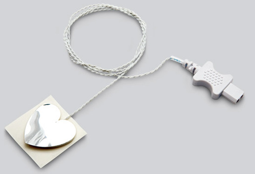 Physio-Control<sup>®</sup> Disposable Temperature Sensor, Skin Probe, High Dialetic, Compatible with Lifepak 15