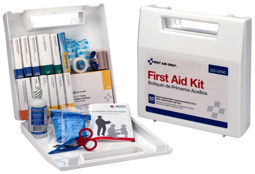 First Aid Only  196-piece Bulk First Aid Kit, 50 Person, Plastic Case