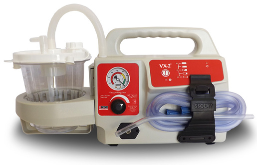 SSCOR S-CORT VX-2<sup>®</sup> Portable Suction Unit with Variable Regulator and Gauge