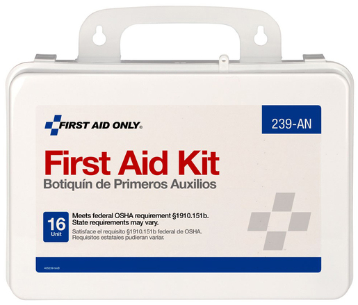 First Aid Only Unitized First Aid Kit with Gasket, ANSI, 16-unit, 94-piece