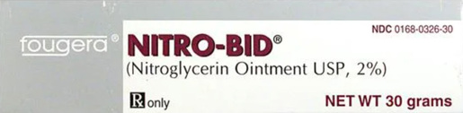 Nitroglycerin Ointment, 2%, 30g Tube
