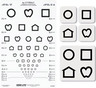Good-Lite LEA Symbols Proportional-spaced Chart Set, 10 Feet