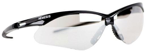 V30 Nemesis Safety Glasses, Black Frame, Neck Cord