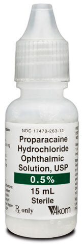 Proparacaine Hydrochloride Ophthalmic Solution, USP, 0.05%, 15mL Bottle