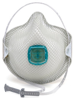 Moldex<sup>®</sup> N100 Respirators with HandyStrap<sup>®</sup> and Valve, Medium/Large