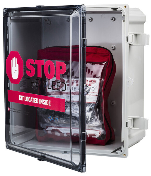 Curaplex<sup>&reg;</sup> Stop The Bleed<sup>&reg;</sup> Wall Cabinets, Polycarbonite with Tinted Door