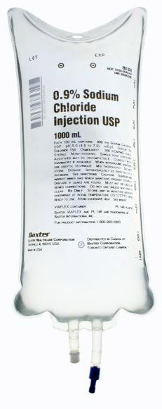 Baxter .9% Sodium Chloride ViaFlex IV Bag, 1000mL