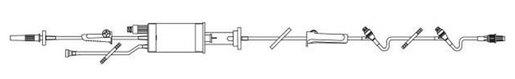 """Baxter Buretrol Solution Set with Clearlink Burette, 60 Drop, 150mL, 105"""""""