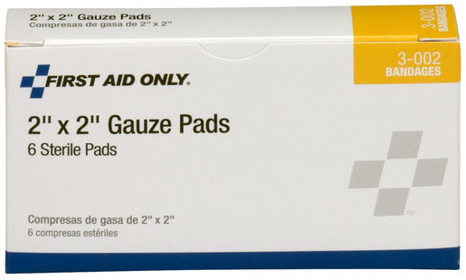 First Aid Only<sup>®</sup> Pac-Kit Gauze Pads, 2&rdquo; x 2&rdquo;