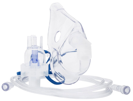 Curaplex<sup>®</sup> Small Volume Hand-held Nebulizer with Adult Aerosol Mask, 7' Tubing