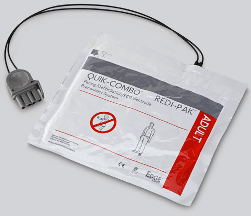 Physio-Control LifePak<sup>®</sup> EDGE System<sup>™</sup> Electrodes with Quik-Combo<sup>®</sup> Connector, Adult