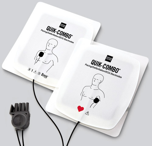 Physio-Control LifePak<sup>®</sup> EDGE System<sup>™</sup> RTS Electrodes with Quik-Combo<sup>®</sup> Connector, Adult