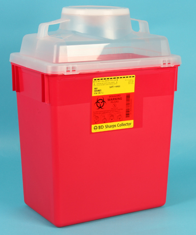 BD Multi-use Nestable Guardian Sharps Container, 6gal