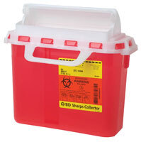 BD Patient/Exam Room Sharps Collectors, 5.4qt