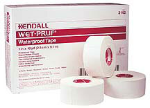 Kendall<sup>™</sup> Wet-Pruf Waterproof Tape, 1/2&rdquo;