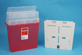 Covidien Sharps-A-Gator<sup>™</sup> Point-of-Use Sharps Container with Hidden Bracket and Key