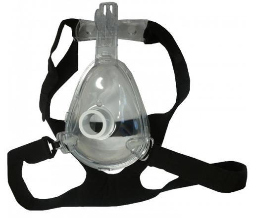 Pulmodyne<sup>®</sup> O2 MAX<sup>™</sup> BiTrac ED<sup>™</sup> Full Face Mask & Head Strap, Adult, Large