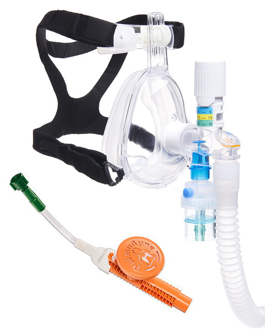 Pulmodyne<sup>&reg;</sup> O2-MAX<sup>™</sup> BiTrac ED<sup>™</sup> with Integrated Nebulizer, Adult Large, 5-set Peep Valve