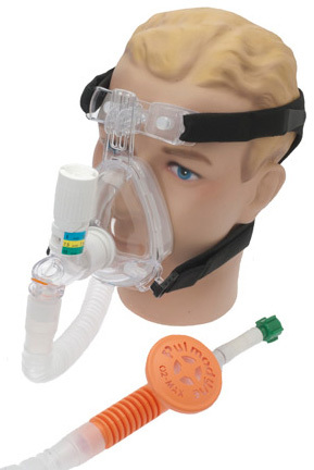 Pulmodyne<sup>®</sup> O2-MAX<sup>™</sup> BiTrac ED<sup>™</sup> with CPAP Valve and Fixed Flow Generator, 3-set Valve, with Chemtron, Adult, Large