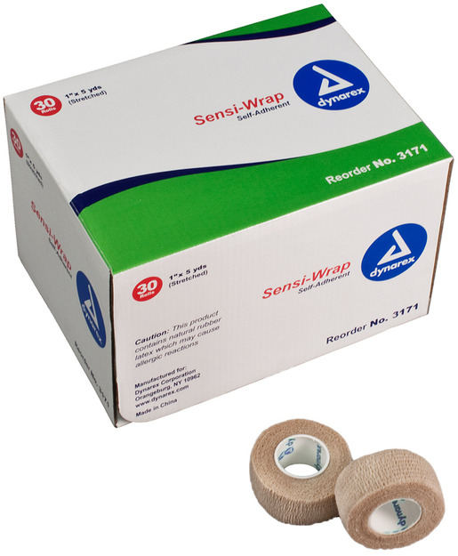 Dynarex<sup>®</sup> Sensi-Wrap Self-adherent Bandage Rolls, Tan, 1&rdquo;